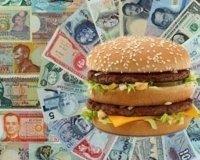 Аналитики назвали реальный курс рубля по индексу «бигмака»