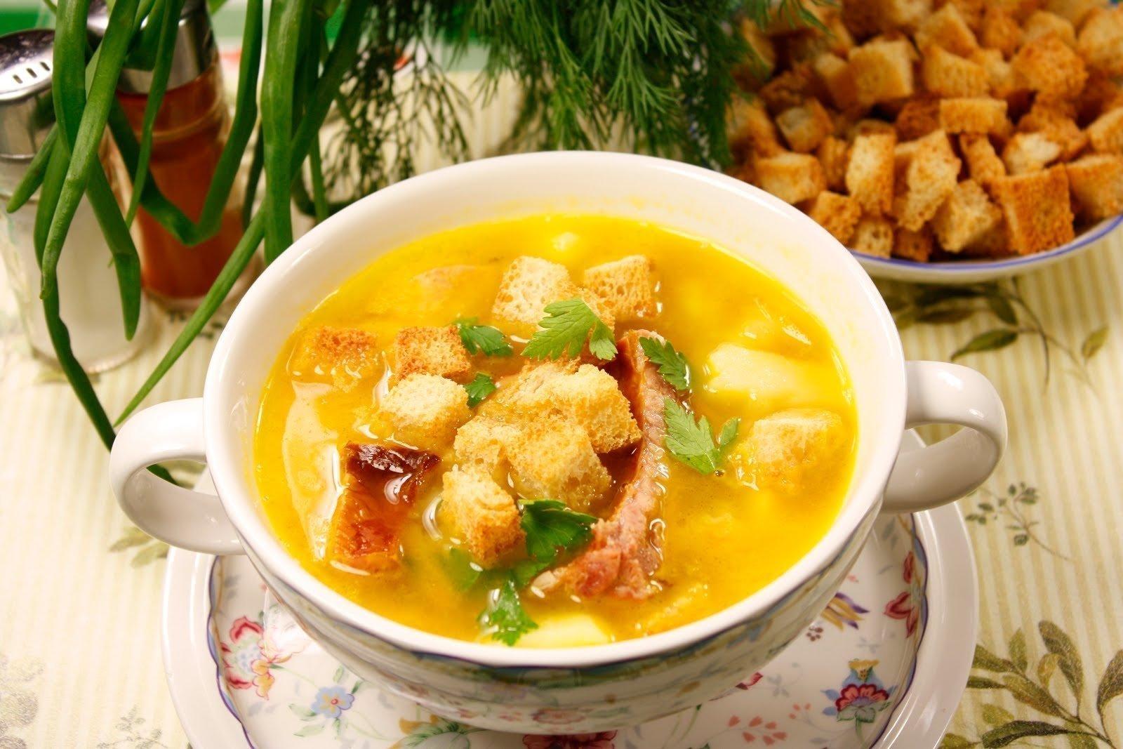 Суп гороховый рецепт на копченых ребрышках рецепт