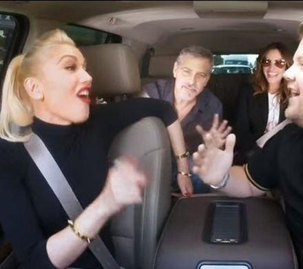 Видео дня: Джулия Робертс и Джордж Клуни подпели Гвен Стефани в такси