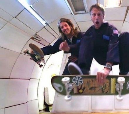 Видео дня: трюки на скейте в невесомости