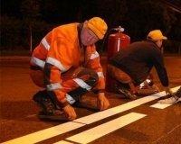 В Челябинске размечают дороги термопластиком