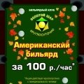 Американский бильярд за 100 руб./час