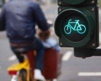 В центре Екатеринбурга стали появляться светофоры для велосипедистов