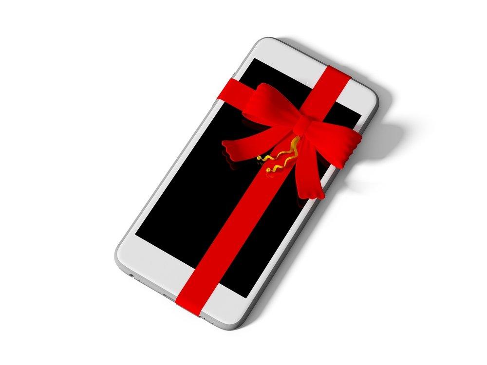 картинка подарка для телефона начале