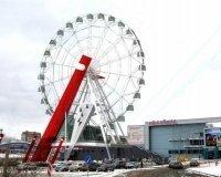 В Челябинске завершен монтаж нового Колеса обозрения