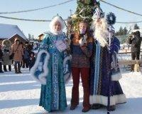 Открытие новогодней елки в зоопарке в Ижевске