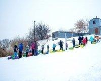 В Челябинске на Первом озере открыли новую тюбинговую горку