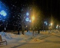 В парке Якутова появилась новая иллюминация