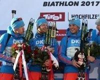 Сборная России взяла «золото» на Чемпионате мира по биатлону и спели гимн без музыки