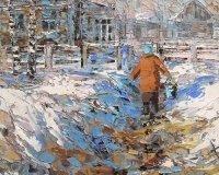 Русскую провинцию в стиле пространственного реализма можно увидеть в Екатеринбургской галерее современного искусства