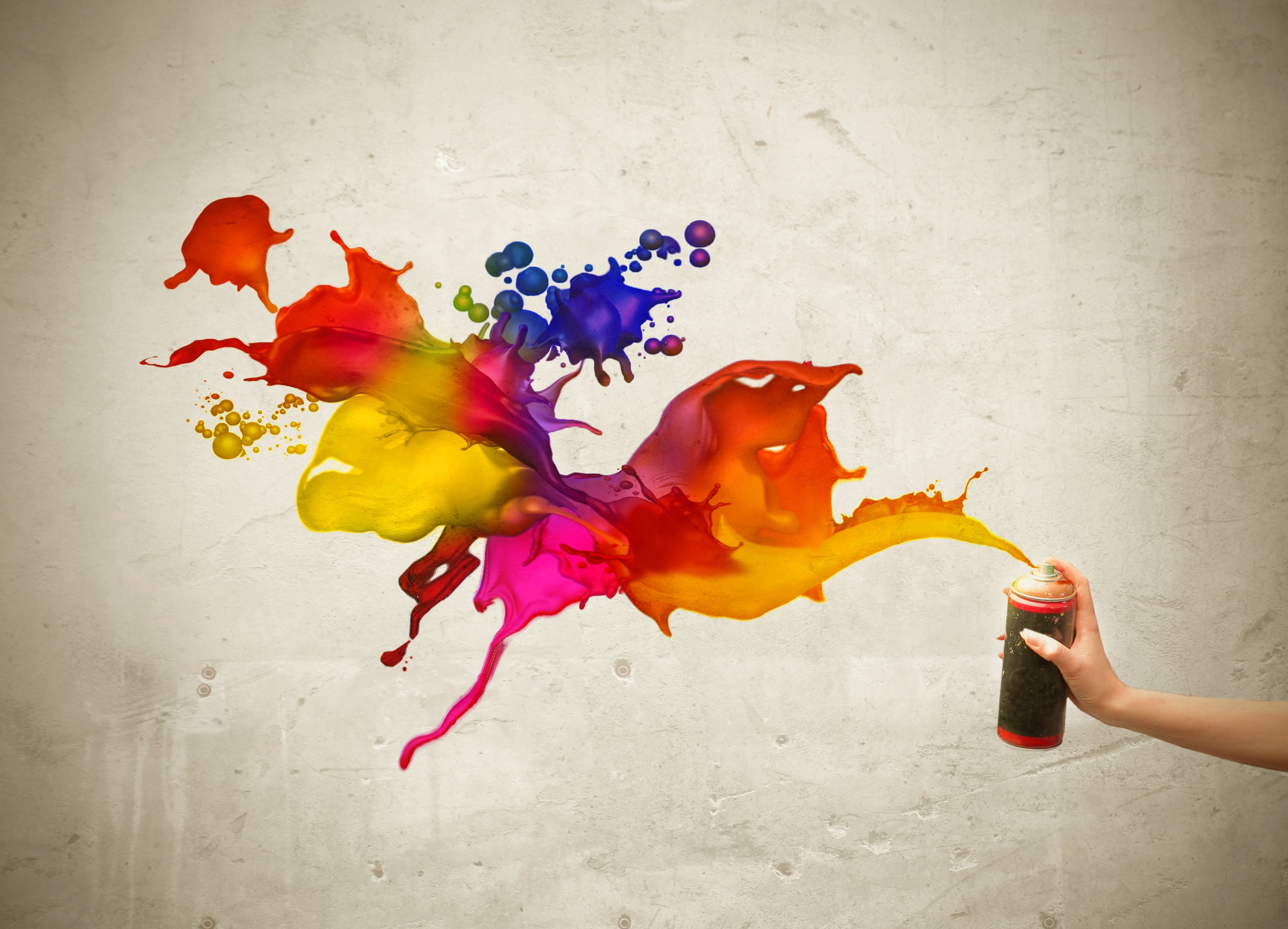 девушка краски креатив кисточка без смс