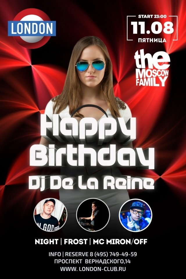 Happy Birthday DJ De La Reine