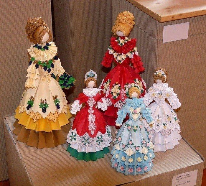 Поделки куклы с оригами 24