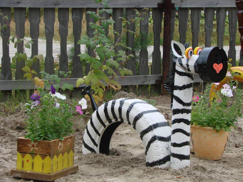 Идеи для сада своими руками из колес