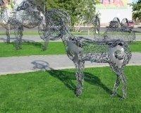 В Темиртау теперь есть парк кованных скульптур.