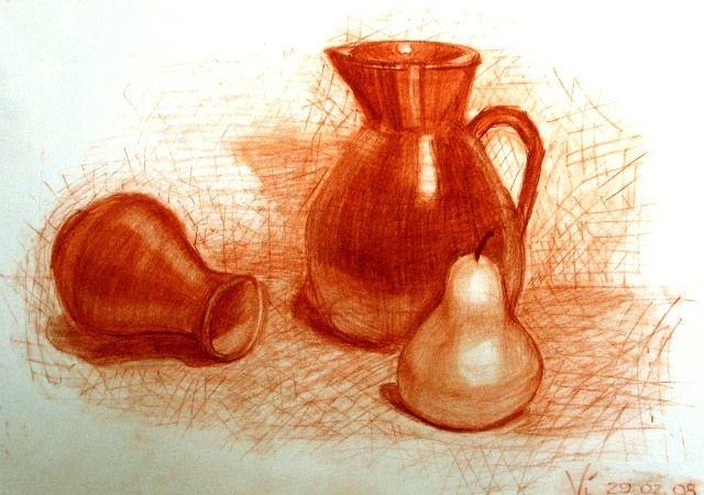 Мастер класс рисование сангиной