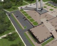В середине октября стройка у памятника Курчатову наконец завершится