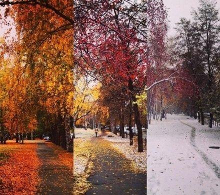 Первый снег в Челябинске в Instagram