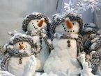 МК «Открытка со снеговиком»