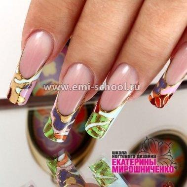 Дизайн ногтей от екатерины мирошниченко эмаль на золоте