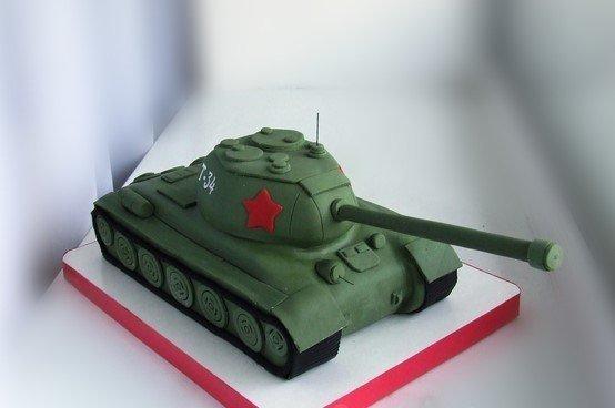 как сделать торт танк можно