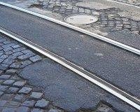 В апреле трамвайные пути возле «Гринвича» будут отремонтированы