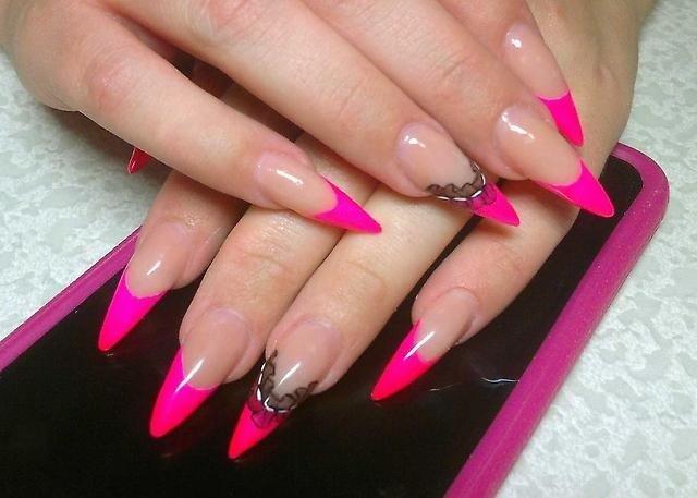 Большие ногти нарощенные