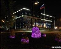 Возле Сибирского федерального университета появился сад светящихся камней