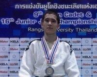 На чемпионате Азии по дзюдо среди кадетов  спортсмен из Сатпаева завоевал серебро