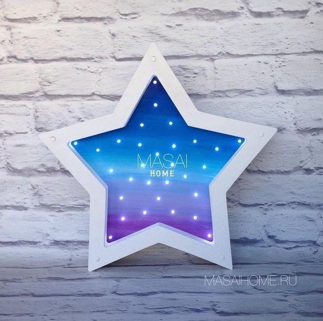 Ночник звезда своими руками